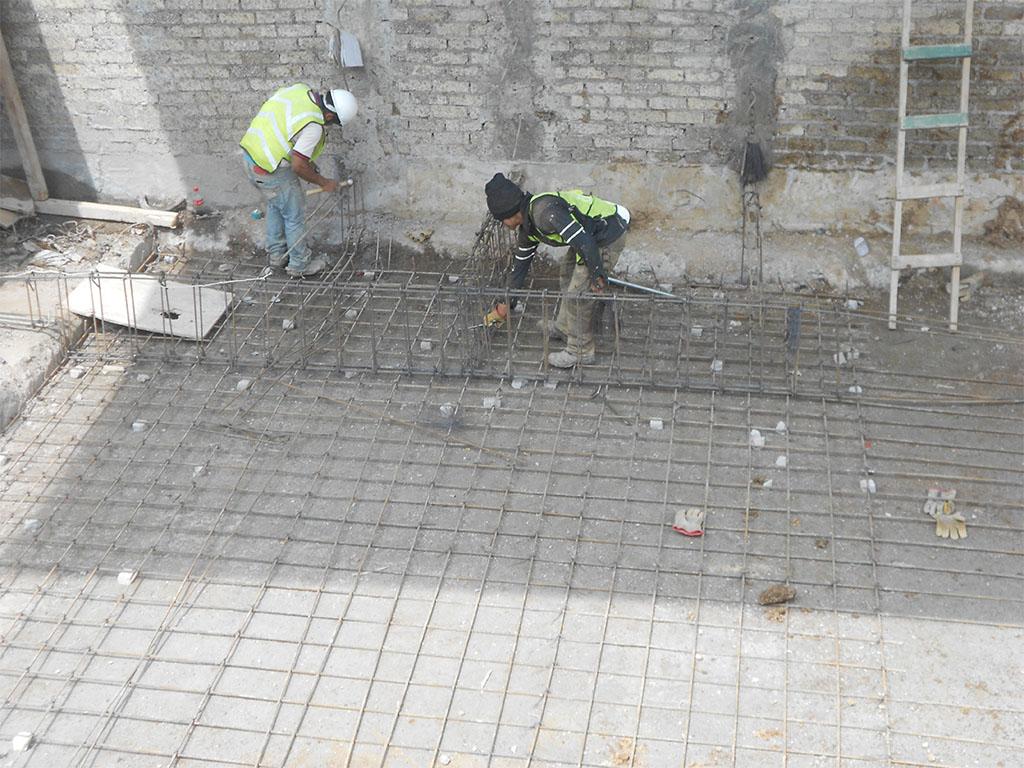 Armado de acero de refuerzo para zapatas de cimentación